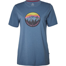 North Bend Vertical Shortsleeve Shirt Women blue
